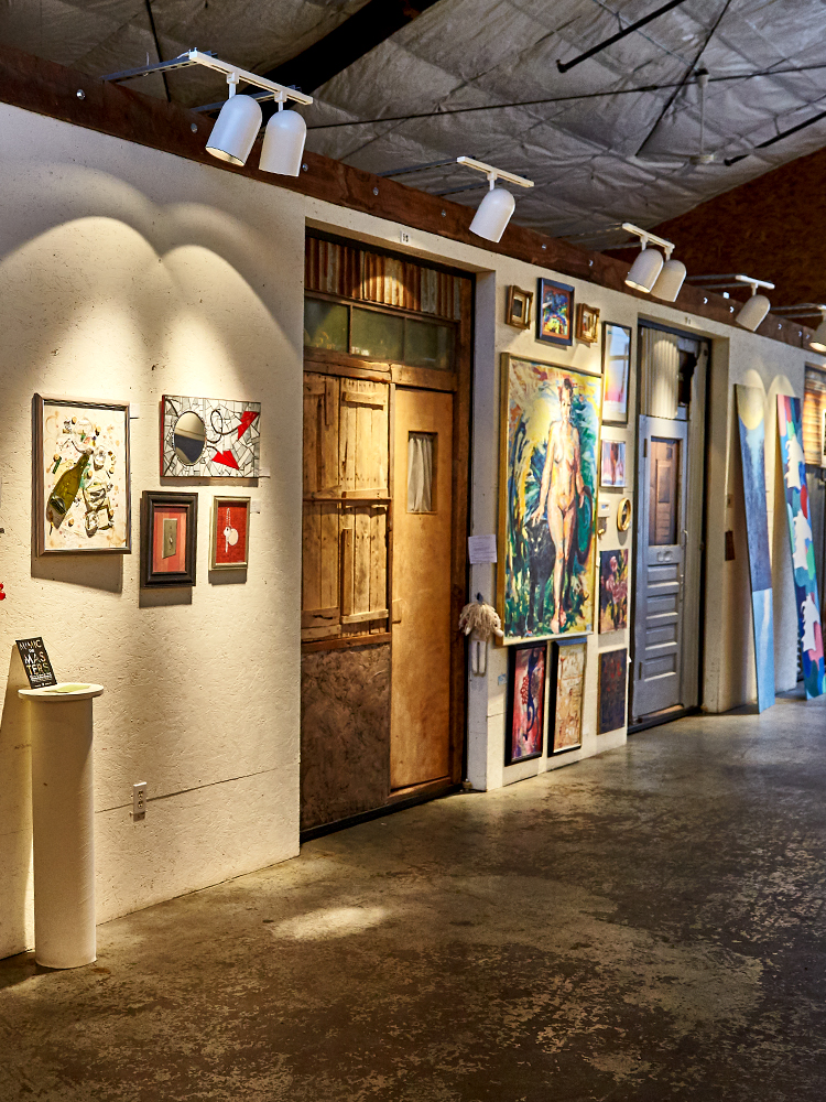 View of different art offered at First Fridays