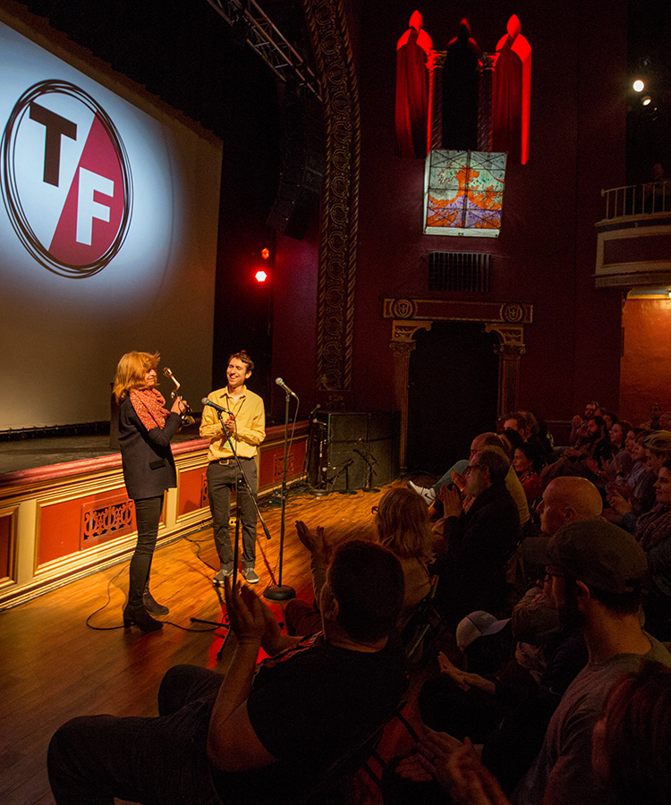 On stage at the True/False Film Fest